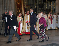 David Walliams in Westminister Abbey, London ahead of Service of Thanksgiving for the Life and Work of the Ronnie Corbett who died last year.