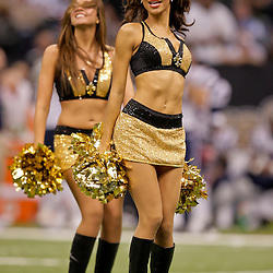 2009 November 30: New Orleans Saints Saintsations dancers perform during a game against the New England Patriots at the Louisiana Superdome in New Orleans, Louisiana.