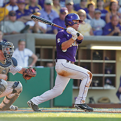 06 June 2009:  Ryan Schimpf (16) in action during a 5-3 victory by the LSU Tigers over the Rice Owls in game two of the NCAA baseball College World Series, Super Regional played at Alex Box Stadium in Baton Rouge, Louisiana. The Tigers with the win advance to next week's College Baseball World Series in Omaha, Nebraska.