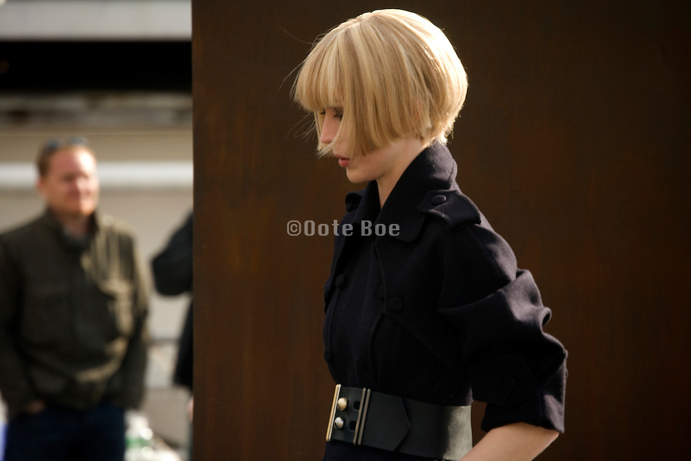Model during a Karl lagerfeld Chanel photoshoot