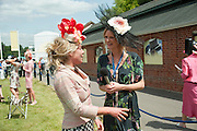 COZMO JENKS; INTERVIEWED BY MODEL TV PRESENTER OLIVIA ING, Lunch part hosted by Liz Brewer and Mrs. George Piskova in No; 1 car-park. . Royal Ascot. Tuesday. 14 June 2011. <br /> <br />  , -DO NOT ARCHIVE-© Copyright Photograph by Dafydd Jones. 248 Clapham Rd. London SW9 0PZ. Tel 0207 820 0771. www.dafjones.com.