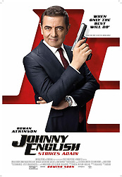 RELEASE DATE: October 26, 2018 TITLE: Johnny English Strikes Again STUDIO: Focus Features DIRECTOR: David Kerr PLOT: After a cyber-attack reveals the identity of all of the active undercover agents in Britain, Johnny English is forced to come out of retirement to find the mastermind hacker. STARRING: ROWAN ATKINSON as Johnny English. (Credit Image: © Focus Features/Entertainment Pictures/ZUMAPRESS.com)