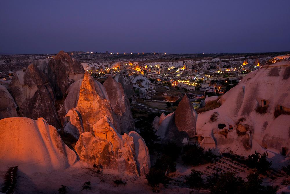 Blue Hour at Göreme, Cappadocia, Turkey
