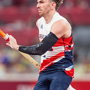 TOKYO, JAPAN August 3:   Harry Coppell of Great Britain in action during the Pole Vault Final for Men at the Olympic Stadium during the Tokyo 2020 Summer Olympic Games on August 3rd, 2021 in Tokyo, Japan. (Photo by Tim Clayton/Corbis via Getty Images)