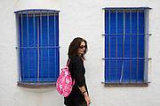 Cadaques, Costa Brava. Spain. Faith D'Aluisio, MODEL RELEASED.