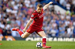 Liverpool's Jordan Henderson during the Premier League match at Stamford Bridge, London.