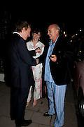 SEBASTIAN SHAKESPEARE; GEORGIA COLERIDGE; NICHOLAS COLERIDGE; , , Tatler magazine's  pyjama party sponsored by Thomas Pink. Claridge's. London. 7 July 2011.<br /> <br />  , -DO NOT ARCHIVE-© Copyright Photograph by Dafydd Jones. 248 Clapham Rd. London SW9 0PZ. Tel 0207 820 0771. www.dafjones.com.