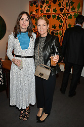 Left to right, TANIA FARES and AMANDA KYME at a private view of Made in Britain featuring contents from The Ivy sold to benefit Child Bereavement UK held at Sotheby's, 34-35 New Bond Street, London on 23rd March 2015.