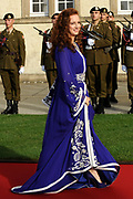 Religious wedding of Grand Duke Guillaume and Princess Stephanie at the Cathedral Notre-Dame in Luxembourg <br /> <br /> On the photo:  Lalla Salma of Morocco