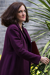Downing Street, London, May 3rd 2016. Northern Ireland Secretary Theresa Villiers leaves 10 Downing Street following the weekly cabinet meeting. ©Paul Davey<br /> FOR LICENCING CONTACT: Paul Davey +44 (0) 7966 016 296 paul@pauldaveycreative.co.uk