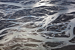 Silty glacial flows of the Slims River, Kluane National Park