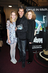 ANDREW CASTLE and his wife SOPHIA with their daughter CLAUDIA at the Cirque du Soleil's gala premier of Quidam held at the Royal Albert Hall, London on 6th January 2009