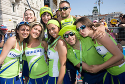 Model girls of Liquigas-Doimo team at  2nd stage of 92nd Giro d'Italia in Trieste, on May 10, 2009, in Trieste, Italia.  (Photo by Vid Ponikvar / Sportida)