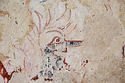 Detail of medieval wall painting church of Ilketshall St Andrew, Suffolk, England, UK