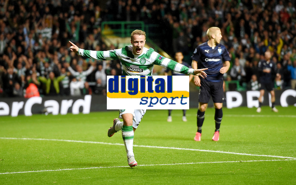 19/08/15 UEFA CHAMPIONS LEAGUE PLAY-OFF 1ST LEG<br /> CELTIC V MALMO<br /> CELTIC PARK - GLASGOW<br /> Leigh Griffiths celebrates scoring his second for Celtic.