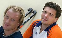 WK Hockey. Remco van Wijk (voor) en Jaap Derk Buma.<br />bij verhaal sport