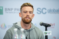 October 22, 2018 - Kallang, SINGAPORE - Andrew Bettles, coach of Elina Svitolina, talks to the media at the 2018 WTA Finals tennis tournament (Credit Image: © AFP7 via ZUMA Wire)