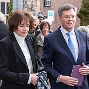 NLD/Naarden/20180330 - Matthaus Passion in de grote kerk van Naarden 2018, Jan Peter Balkenende en partner Bianca Hoogendijk