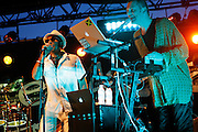 "Cimiez, Nice. France. July 19th 2006..""Brooklyn Funk Essentials presents BFE Sound System"" perform at the Nice Jazz Festival (Scène Matisse)."