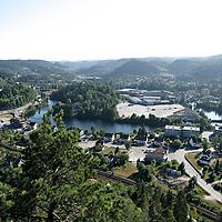 Vennesla 20060726.<br /> Oversiktsbilde over Vennesla nord for Kristiansand i Vest-Agder en sommerdag.<br /> Foto: Tor Erik Schrøder / Schrøder, Tor Erik
