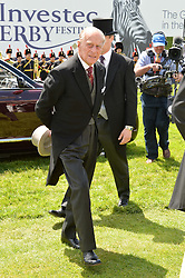HRH the DUKE OF EDINBURGH at the Investec Derby 2015 at Epsom Racecourse, Epsom, Surrey on 6th June 2015.