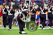 December 07, 2019:  Ohio State band performs during pregame of NCAA Football game action between the Ohio State Buckeyes and the Wisconsin Badgers  at Lucas Oil Stadium in Indianapolis, Indiana.  Ohio State defeated Wisconsin 34-21.