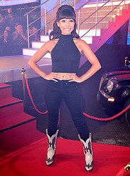 Roxanne Pallett enters the house during the Celebrity Big Brother Launch Night at Elstree Studios, Hertfordshire.