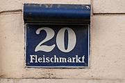 Fleischmarket street, Vienna, Austria