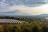 looking out at solar panels in Svijany in the Czech Republic