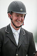ONE OF A KIND II ridden by Matthew Heath, smiling during the final jumping event at Bramham International Horse Trials 2016 at  at Bramham Park, Bramham, United Kingdom on 12 June 2016. Photo by Mark P Doherty.