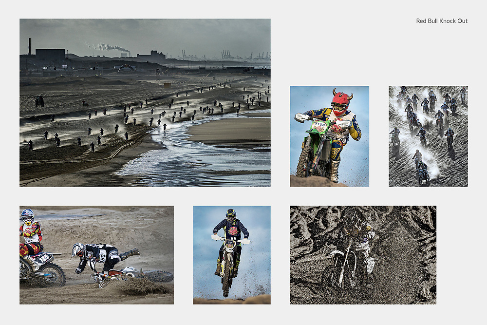 Netherlands. The Hague, November 28, 2015. <br /> Photos © Patrick Post.<br /> The largest beach race in the world, Red Bull Knock Out, with 1500 participants.
