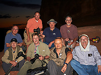 Winston's Photographers after sunset at Delicate Arch in Canyonlands National Park. Image taken with a Nikon D700 camera and 50 mm f/1.4 lens (ISO 200, 50 mm, f/5.6, 1/60 sec) fill flash.
