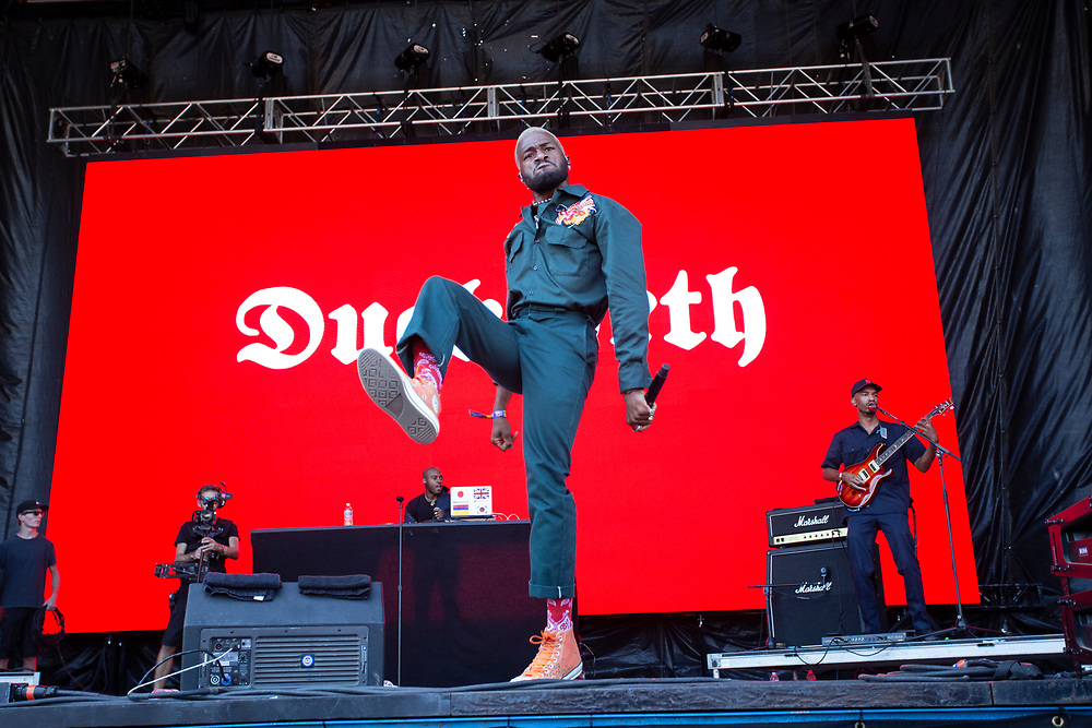 Duckwrth performing at the Austin City Limits Music Festival in Austin, TX on October 6, 2019.