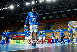 Blaz Janc of Slovenia during Men's EHF EURO 2022 Qualifiers between national teams Slovenia and Netherlands in Arena Zlatorog, Celje, Slovenia on 10. January, 2021. Photo by Grega Valancic