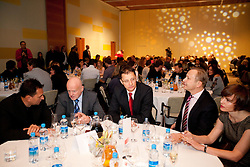 Marjan Hudej, Igor Luksic and Peter Kukovica with his wife during the Slovenia's Athlete of the year award ceremony by Slovenian Athletics Federation AZS, on November 12, 2008 in Hotel Mons, Ljubljana, Slovenia.(Photo By Vid Ponikvar / Sportida.com) , on November 12, 2010.