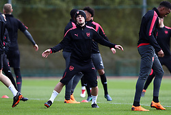 Arsenal's Jack Wilshere (centre) during the training session at London Colney, Hertfordshire.