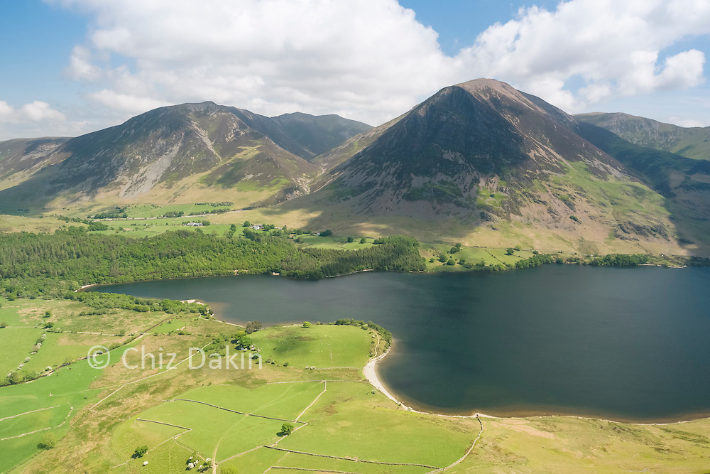 A hidden view over Crummock Water to Grasmoor and Whiteside - one of a few gained by the steep scree on Melbreak!