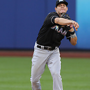 Derek Dietrich, Miami Marlins, in action during the New York Mets V Miami Marlins, Major League Baseball game which went for 20 innings and lasted 6 hours and 25 minutes. The Marlins won the match 2-1. Citi Field, Queens, New York. 8th June 2013. Photo Tim Clayton