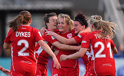 Lily Agg of Bristol City Women celebrates with team-mates - Mandatory by-line: Paul Knight/JMP - 20/05/2017 - FOOTBALL - Stoke Gifford Stadium - Bristol, England - Bristol City Women v Liverpool Ladies - FA Women's Super League Spring Series