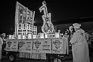 Febuary 8, 2020 New Orleans, Hardrock Hotel float in the Krewe du Vieux parade.