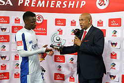 Man of the Match Thamsanqa Sangweni of Chippa United during the 2016 Premier Soccer League match between Chippa United and Bloemfontein Celtic held at the Nelson Mandela Bay Stadium in Port Elizabeth, South Africa on the 25th October 2016<br /><br />Photo by:   Richard Huggard / Real Time Images