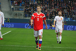 November 14, 2017 - Saint Petersburg, Russia - Of The Russian Federation. Saint-Petersburg. Arena Saint Petersburg, Zenit-arena. Friendly Match. The football world Cup. Team Russia Vs Team Spain. 3:3. Player Alexander Kokorin; (Credit Image: © Russian Look via ZUMA Wire)