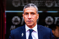 LONDON, ENGLAND - APRIL 14: Chris Hughton manager of Brighton  during the Premier League match between Crystal Palace and Brighton and Hove Albion at Selhurst Park on April 14, 2018 in London, England. (Photo by MB Media/Getty Images)