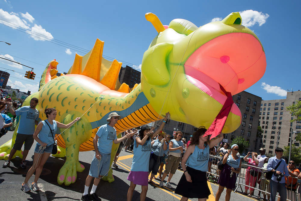 An inflatable sea monster.