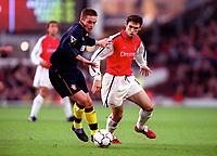 Martin Keown (Arsenal) Matthew Oakley (Southampton)Arsenal 1: 0 Southampton, F.A.Carling Premiership, 2/12/2000. Credit Colorsport / Stuart MacFarlane