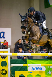 Kooremans Raf, BEL, La Chica De Muze<br /> Klasse Zwaar<br /> Nationaal Indoor Kampioenschap Pony's LRV <br /> Oud Heverlee 2019<br /> © Hippo Foto - Dirk Caremans<br /> 09/03/2019