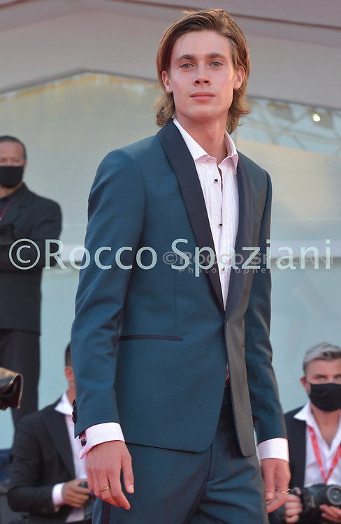 """VENICE, ITALY - SEPTEMBER 11:  Andrea Pittorino walks the red carpet ahead of the movie """"Nomadland"""" at the 77th Venice Film Festival on September 11, 2020 in Venice, Italy. (<br /> (Photo by Rocco Spaziani)"""