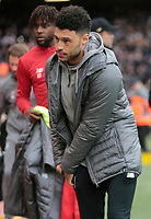 Football - 2018 / 2019 Premier League - Liverpool vs. Tottenham Hotspur<br /> <br /> Alex Oxlade-Chamberlain of Liverpool goes to the players area before the game but is not in today's squad, at Anfield.<br /> <br /> COLORSPORT/ALAN MARTIN