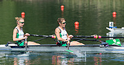 Lucerne, SWITZERLAND, Friday , 27/05/2016 , 2016 FISA WCII,  Lake Rottsee,  Women's lightweight Double Scull, heat, IRL LW1X Bow b Claire Lambe, Sinead Lynch [Jennings],  [Mandatory Credit; Peter SPURRIER/Intersport-images]