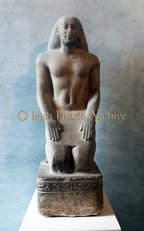 Nakhthorheb in Prayer. Ancient Egyptian stone sculpture